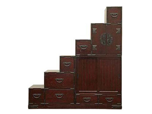 Furniture japan large step chest japanese furniture japan for Furniture rental japan